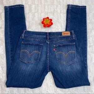 Levis 711 Dark Wash Distressed Skinny Jeans 11